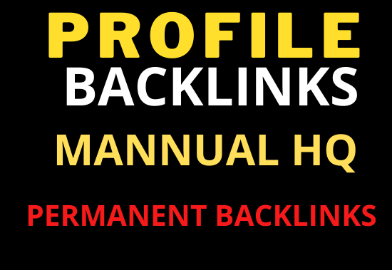 20 Profile Backlinks Permanent relevant and High Quality for