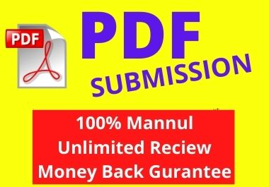 I will manually Create 20 PDF submission to top document sublission site