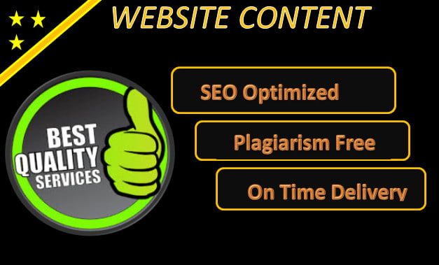 I will write your professional and SEO website content