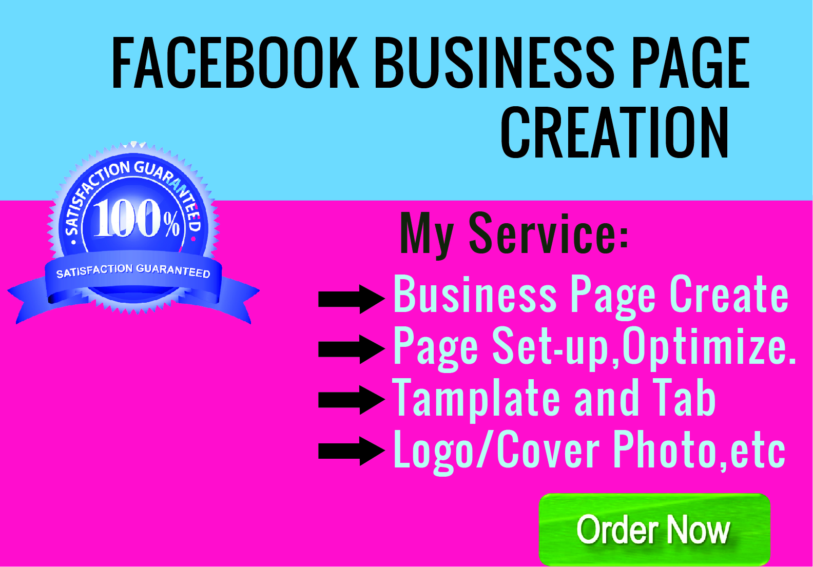 I will do create facebook business page setup,  customize and optimize.
