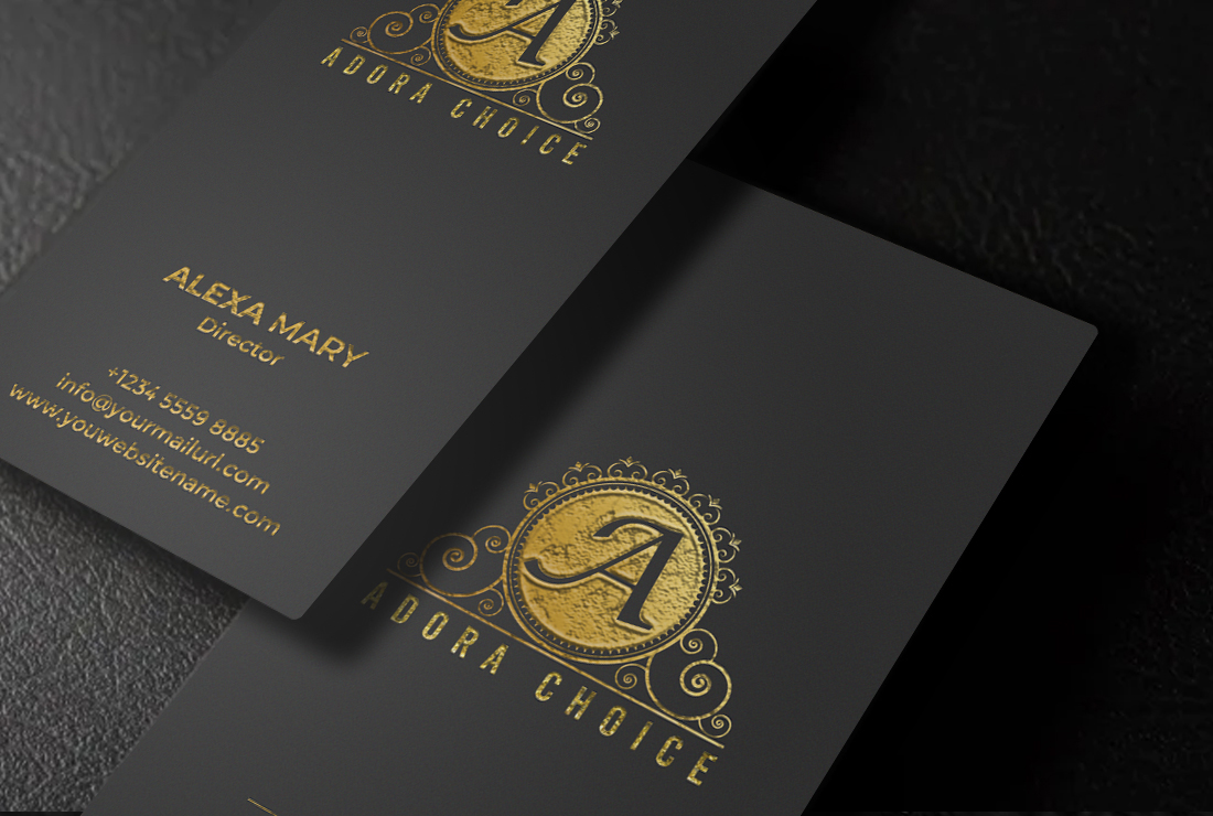 I will do professional luxury,  modern business card design