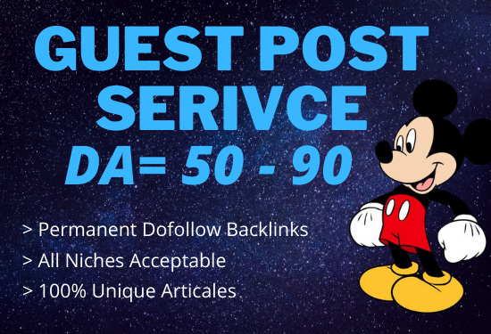 i will increase your guest post 50 90