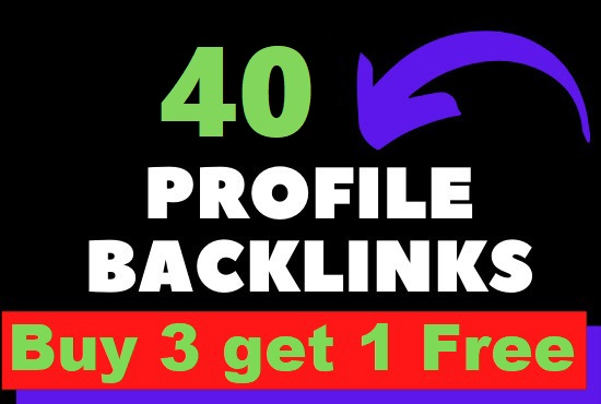 I Will Create 40 Profile Backlinks On High Authority Branded Sites 2021
