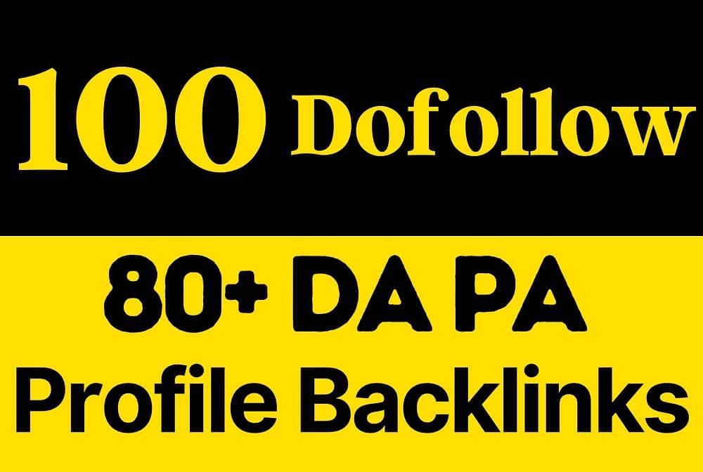 100 dofollow SEO Profile Backlinks 80 DA PA Pr9