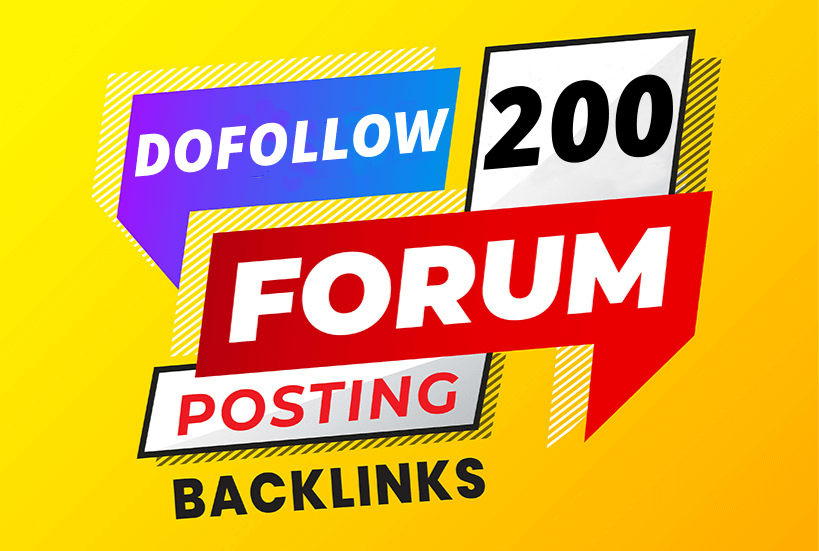 I will create dofollow 200 forums posting high quality seo backlinks