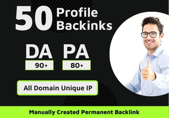 50 High Authority SEO Profile Backlinks