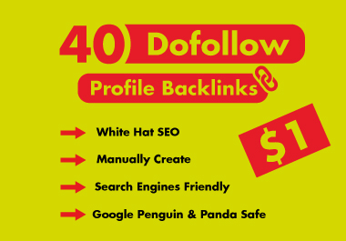 I will create 40 dofollow profile backlinks
