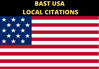 I will create best 50 LIVE USA local citation and directory submission