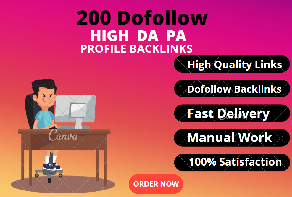 I will create 200 dofollow High DA PA profile backlink