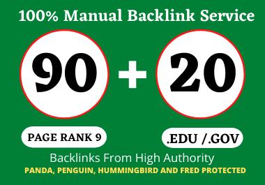 90 PR9 + 20 Edu/Gov PR9 High Quality Profile Backlinks - Boost Your Website Ranking