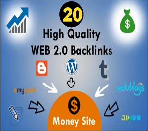 I will create 20 manually web 2.0 super blogs with login contextual backlinks
