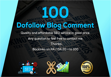 i will Create 100 Niche Related Blog Comments Backlinks