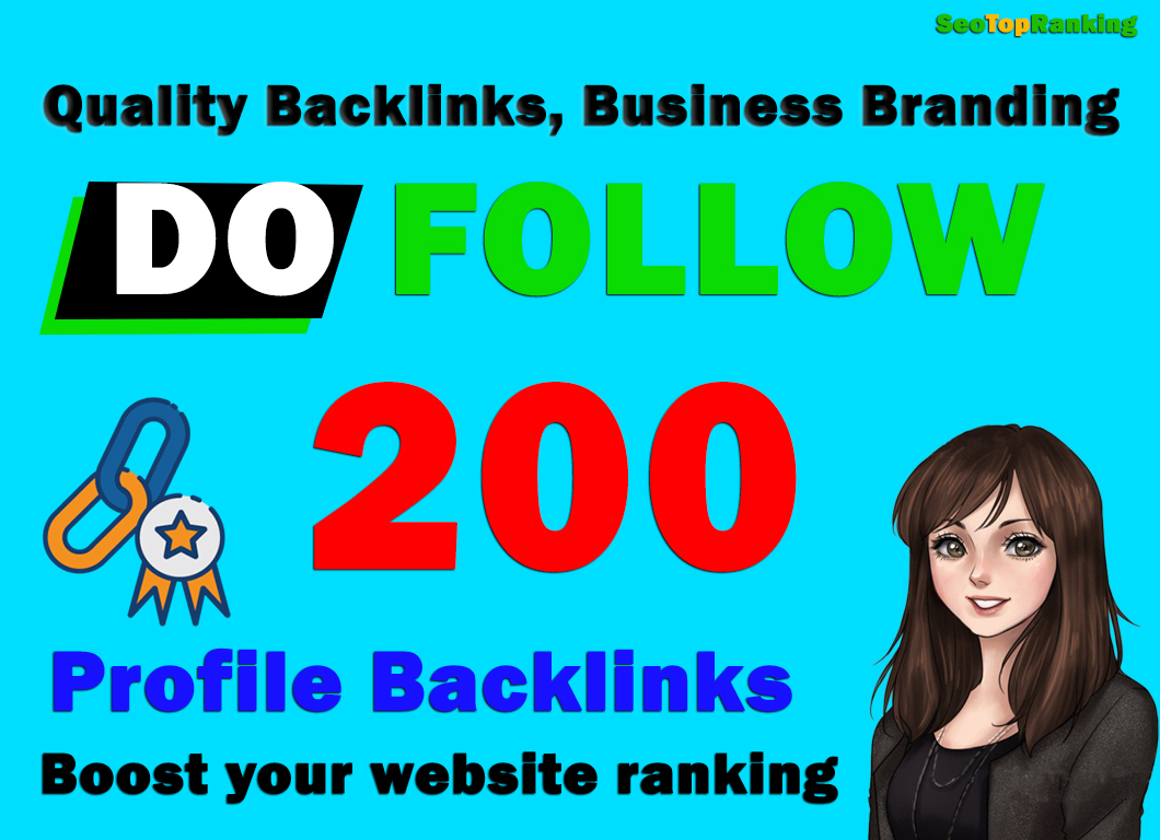 Manually Create High Authority DA90 PA90 200 Permanent Profile Backlinks,  link building
