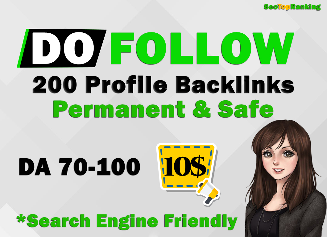 I will Create Manually High Authority Profile Backlinks 200 Permanent DA 70+ PR9