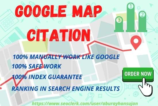 Build Manually 150 google map citations for local SEO