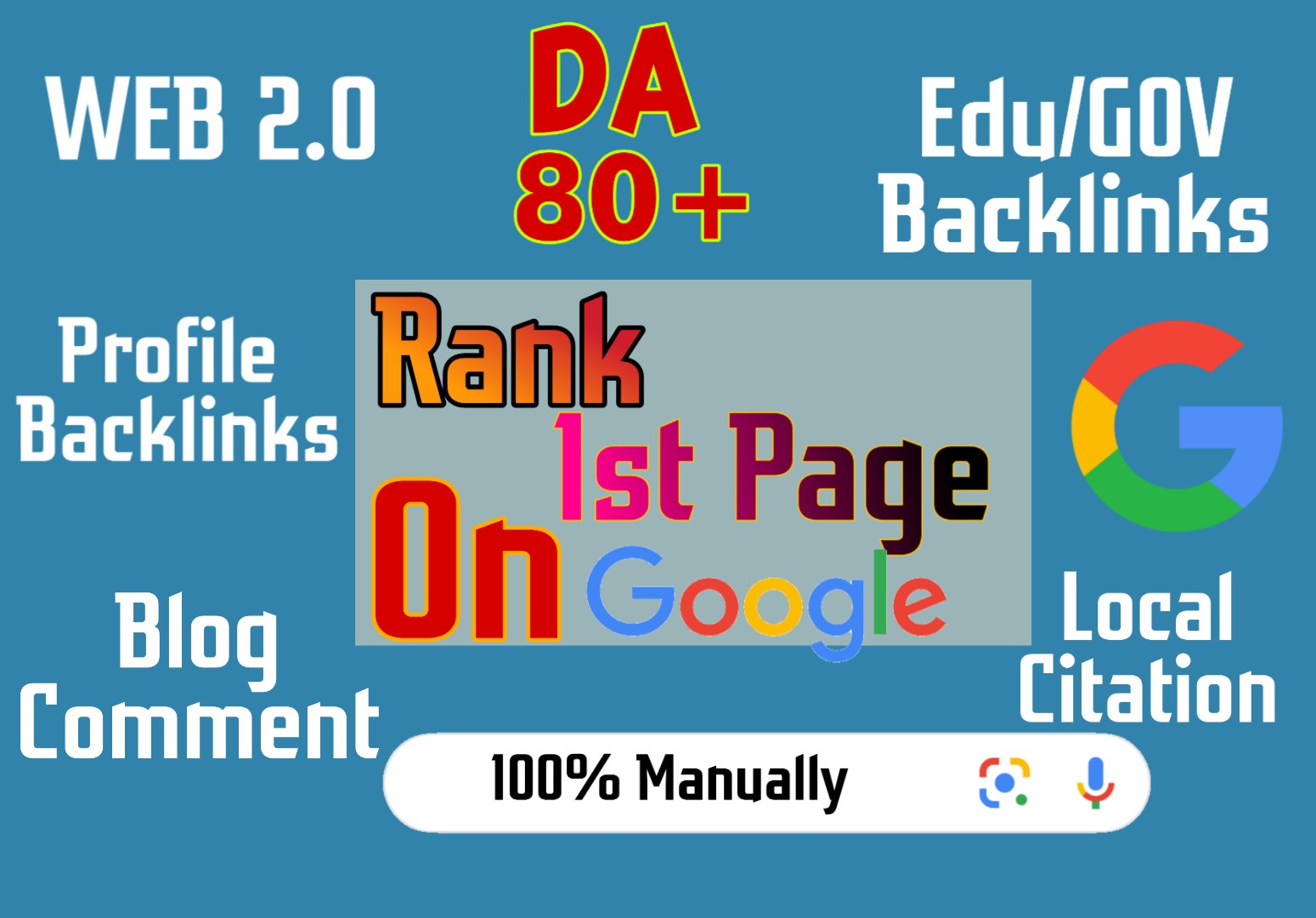 Rank 1st Page On Google using EDU Profile backlinks, Web 2.0, Blog comments, Local citaion