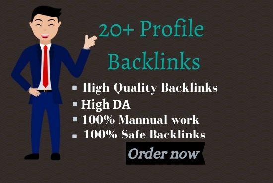 I Will Make 20 WHITE HAT SEO Profile Backlinks