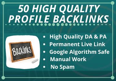 I Will Provide 50 High Quality Profile Backlinks