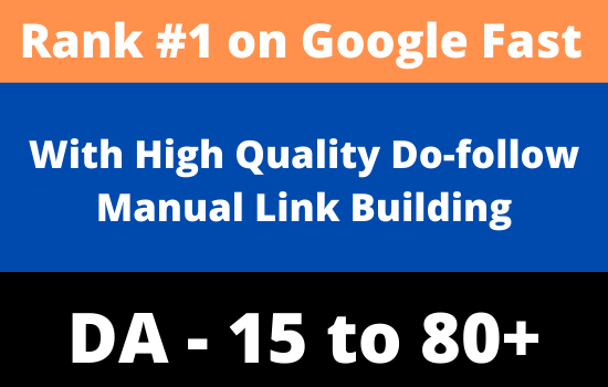 Boost your web pages on Google quickly Manual High Authority Dofollow SEO Backlinks