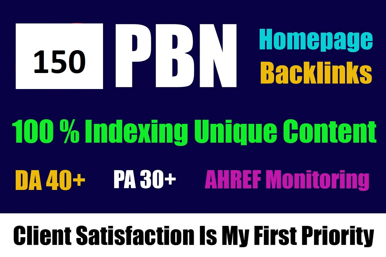 I Will do 150 High quality dofollow permanent PBN backlinks Authority link building