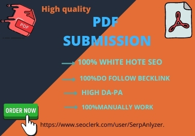 NEW WEAR OFFER -Build 20 PDF submission SEO backlinks in high rank DA sites
