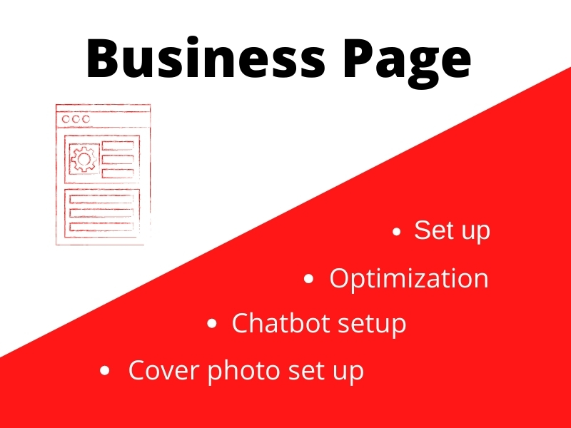 Setup company or business page and optimization on Linkedin and Facebook
