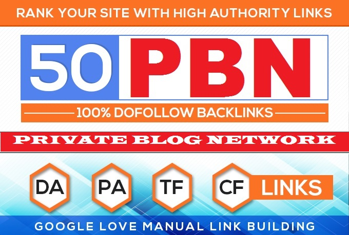 Build 50 HomePage PBN All. COM Domains Backlinks All Dofollow High Quality Backlinks