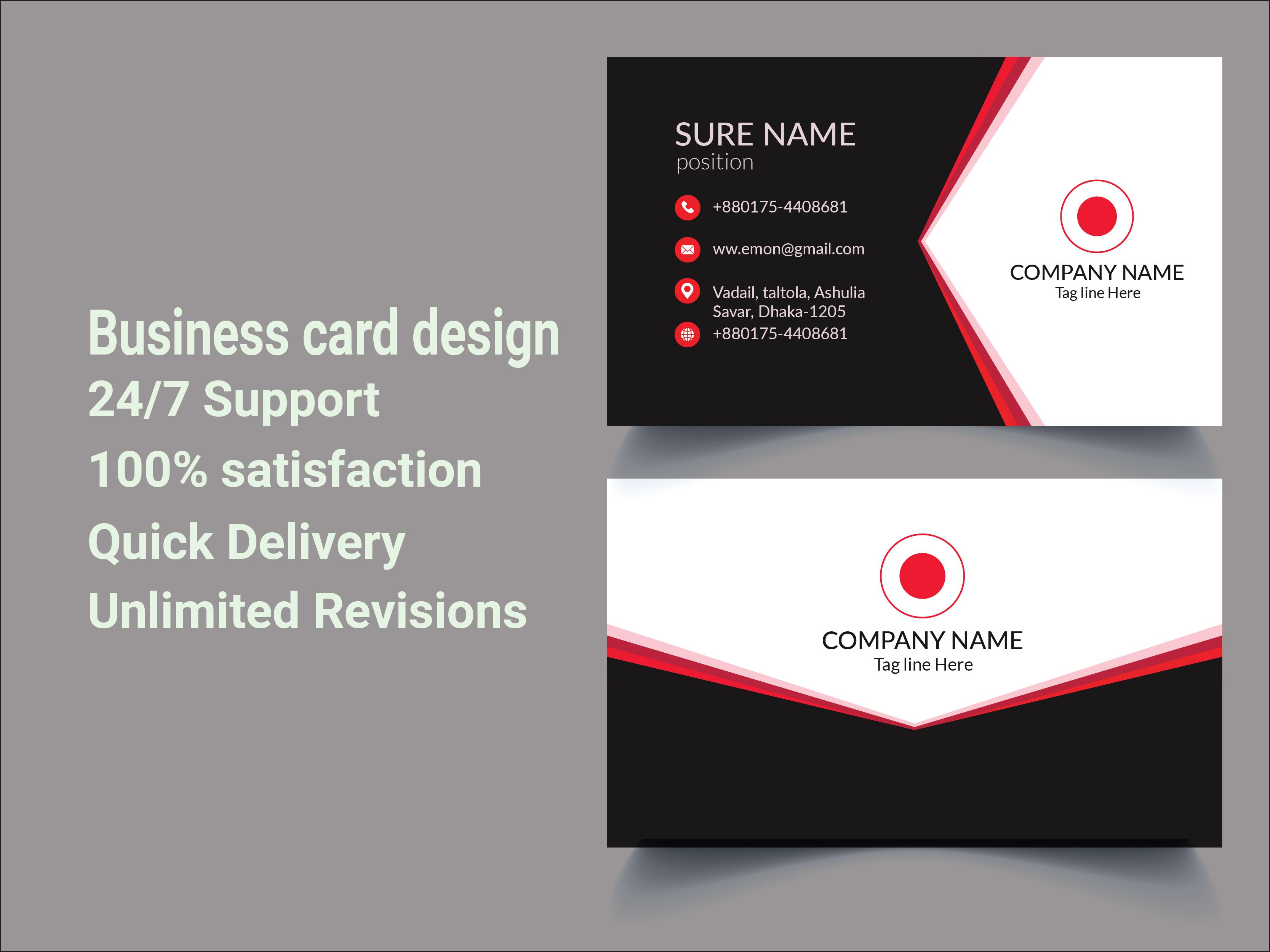 I will make Business or Visiting card Design