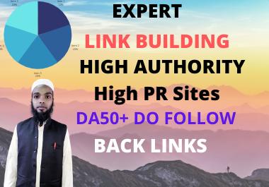 I will high quality SEO do-follow back links da 50 plus authority link building