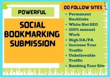 I will develop manually 50+ Social Bookmarking Backlinks