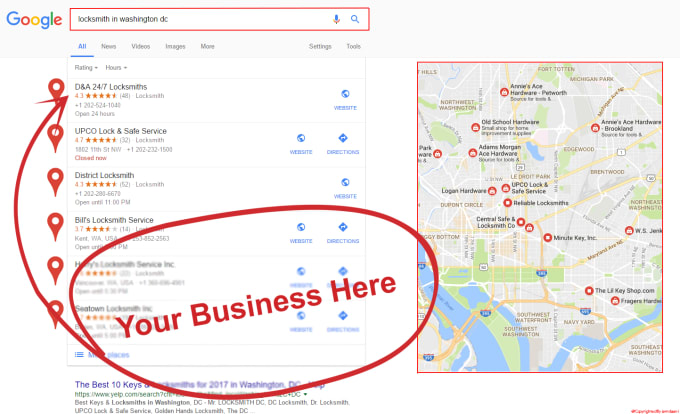 I will increase your business by 1000 google map citation with Driving Directions