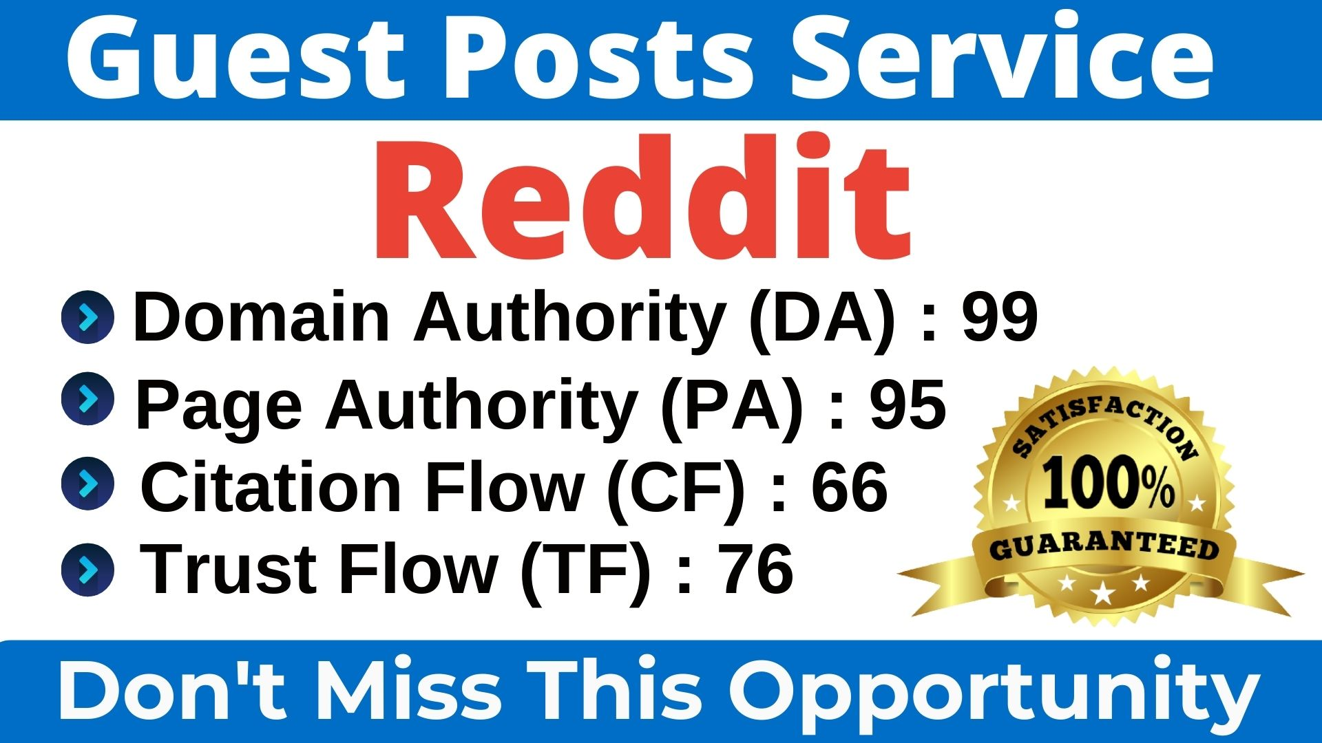 I will Write & Publish A Guest Post On Reddit DA 99,  PA 95 With Index Guaranteed Backlink