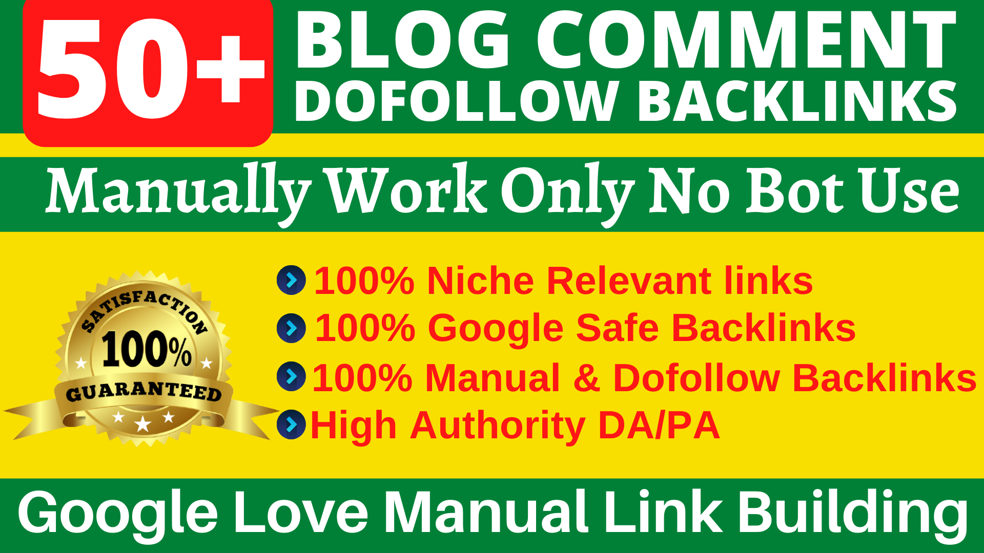 50 Dofollow Backlinks Blog Comments High DA Website Ranking & Link Building Service