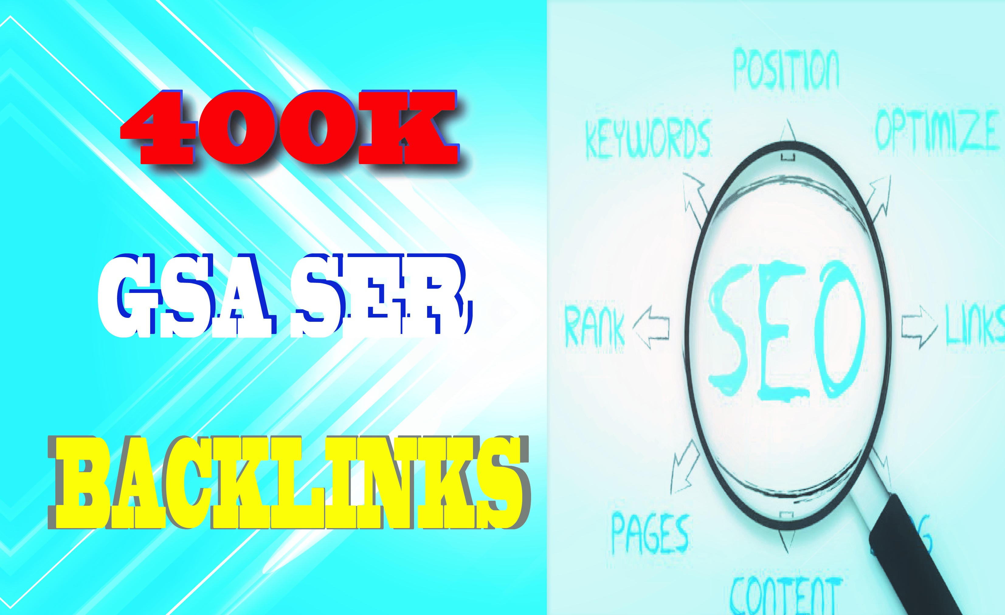 I will do highly verified backlinks to your website by using GSA SER