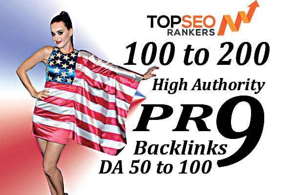 Do 100 to 200 high da USA pr9 seo backlinks