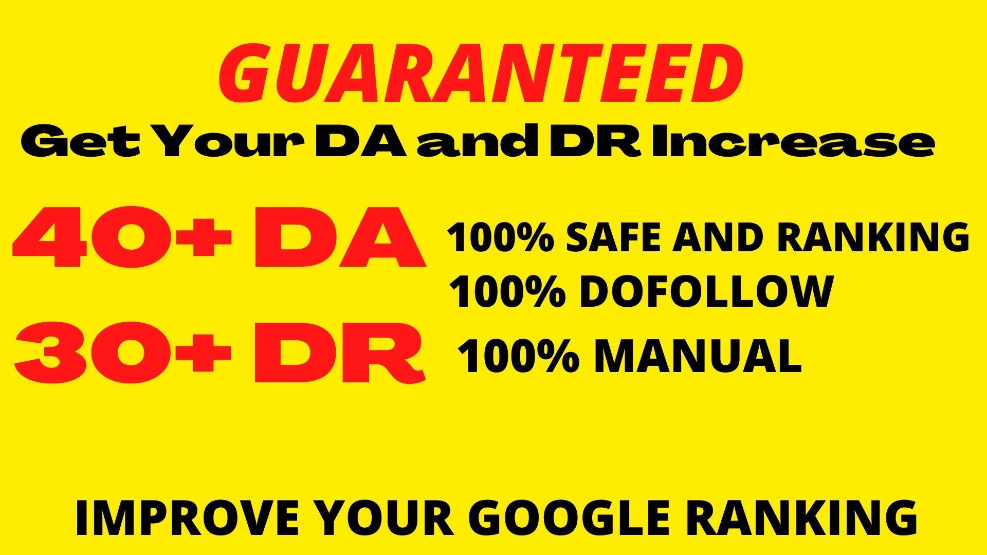 Manually Create 250+DOFOLLOW High PR 1-PR 7+ or DA-40+Highly Authorized Google Dominating Backlinks