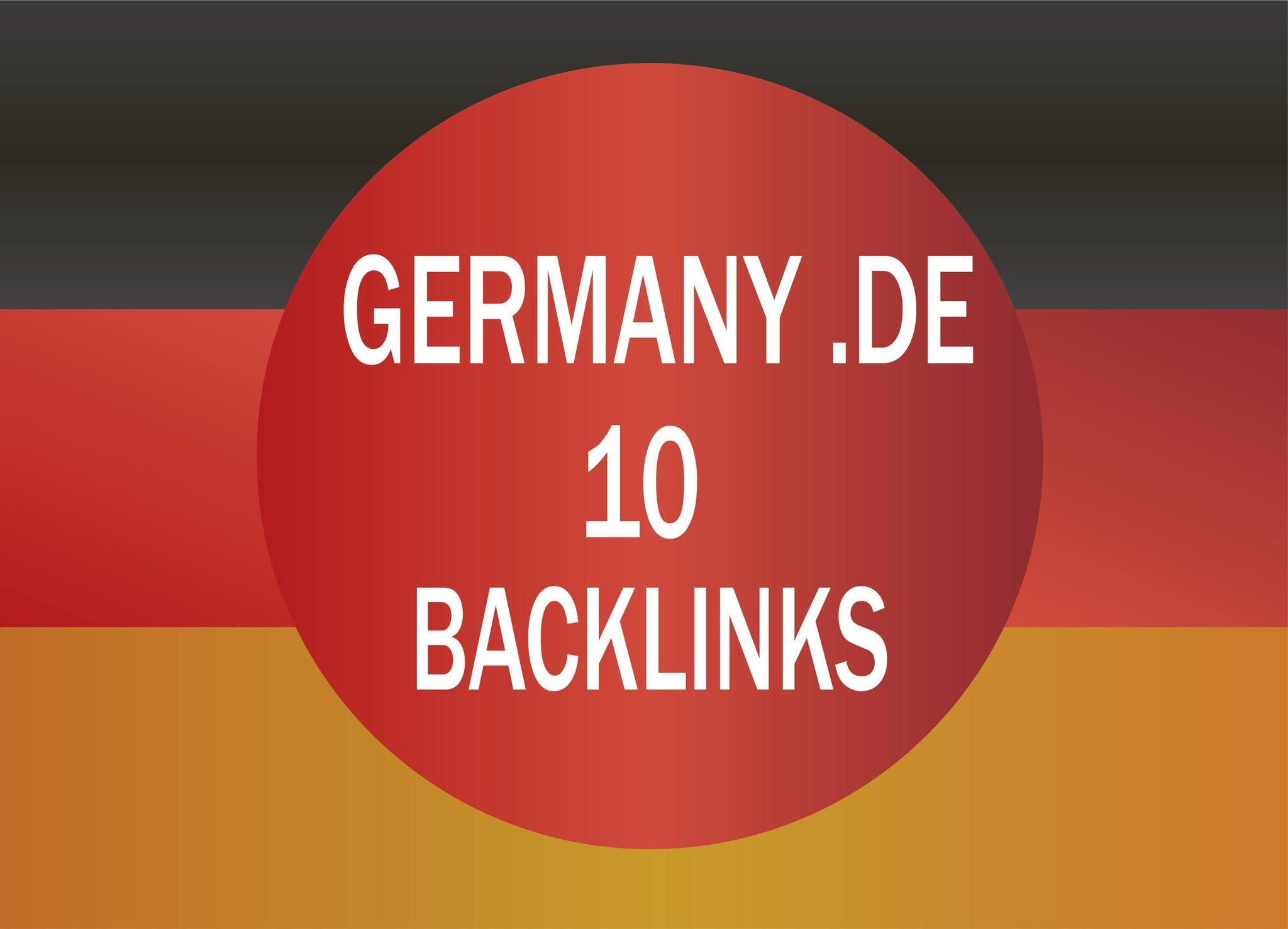 provide 10 manual. de germany backlinks manual work
