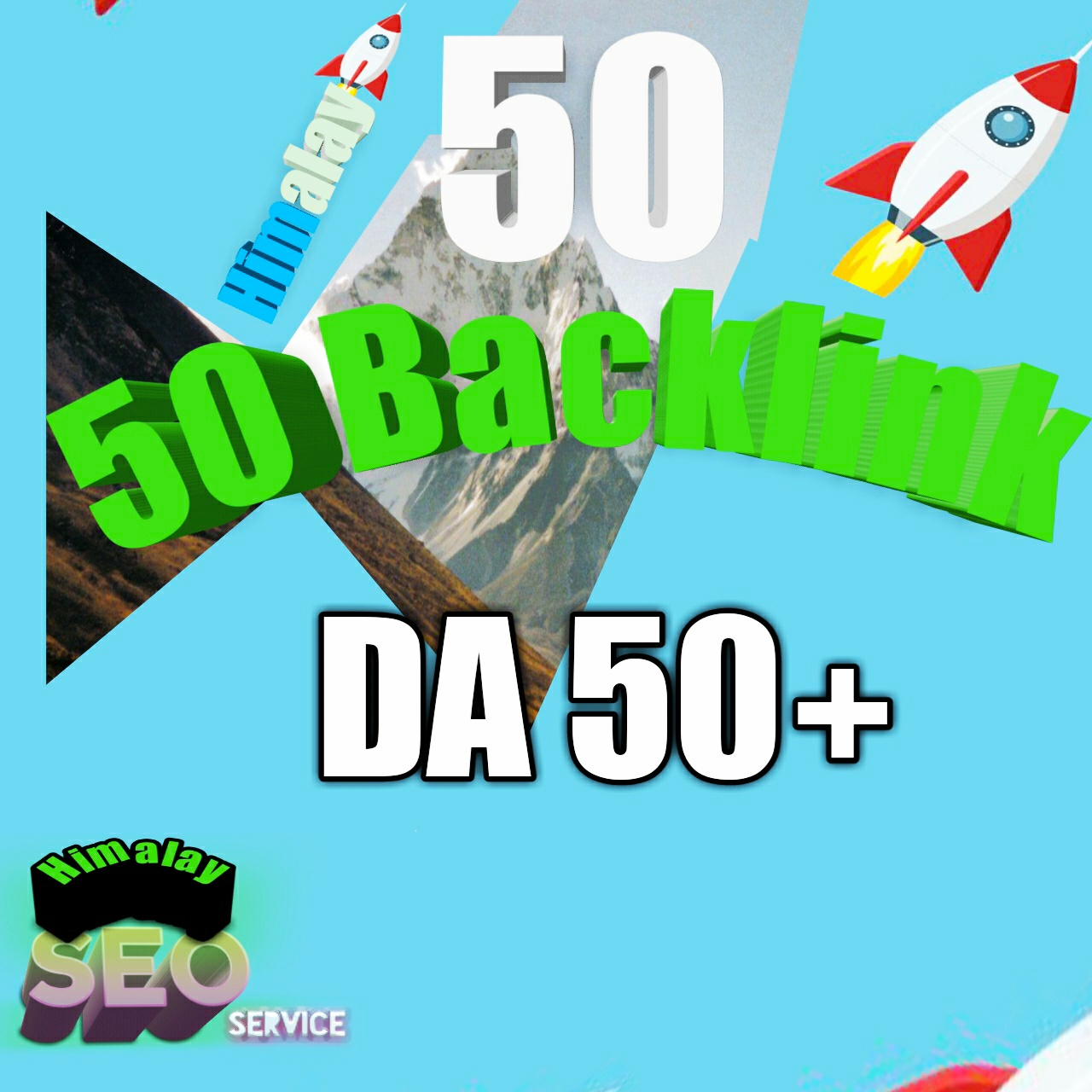 All High DA 50+ 50 high quality Get  backlinks for your links/keywords