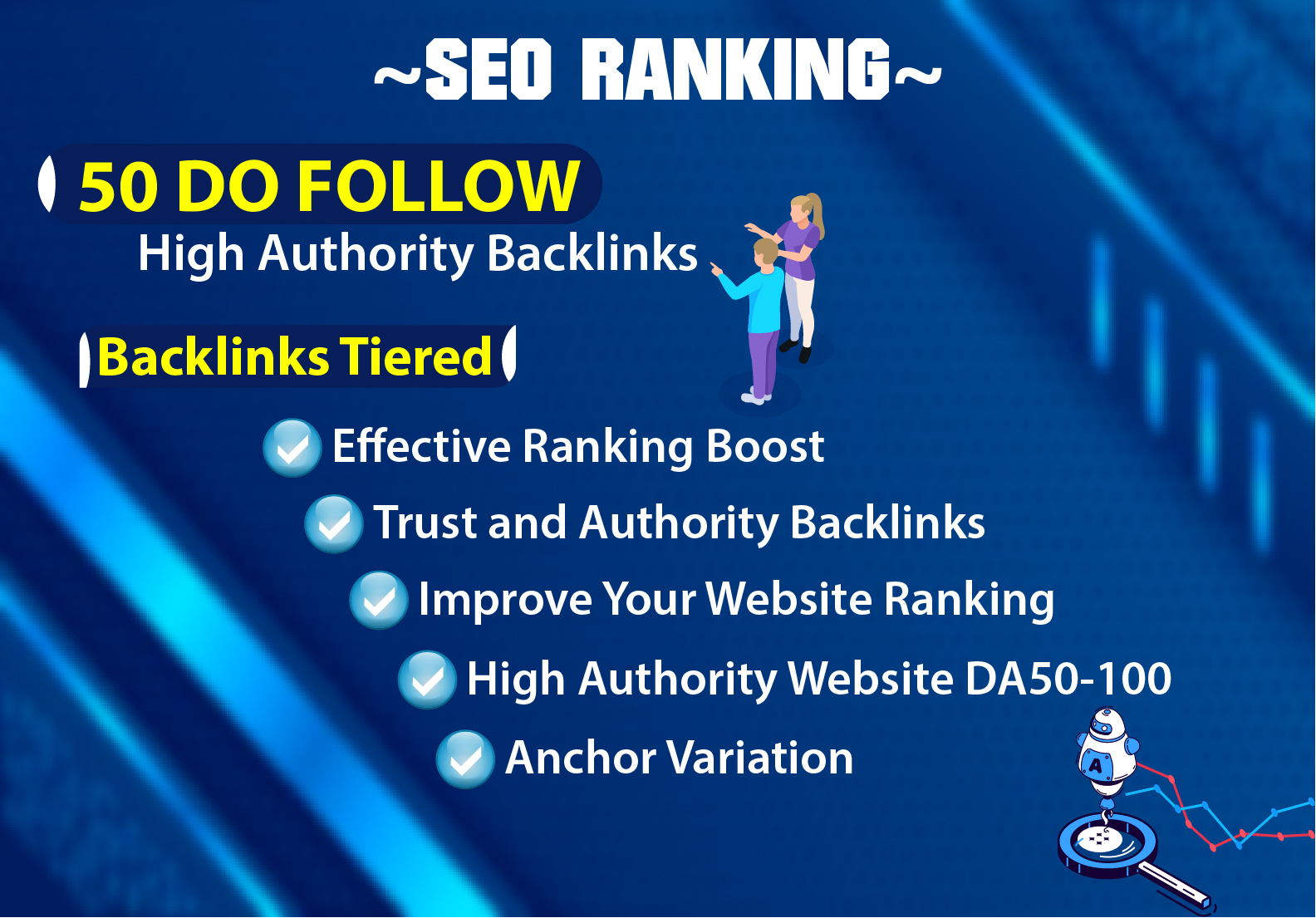I will create 50 High DA 80+ Profile Backlinks