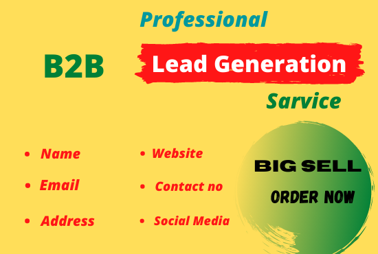 I will do b2b Linkedin lead generation and email list building