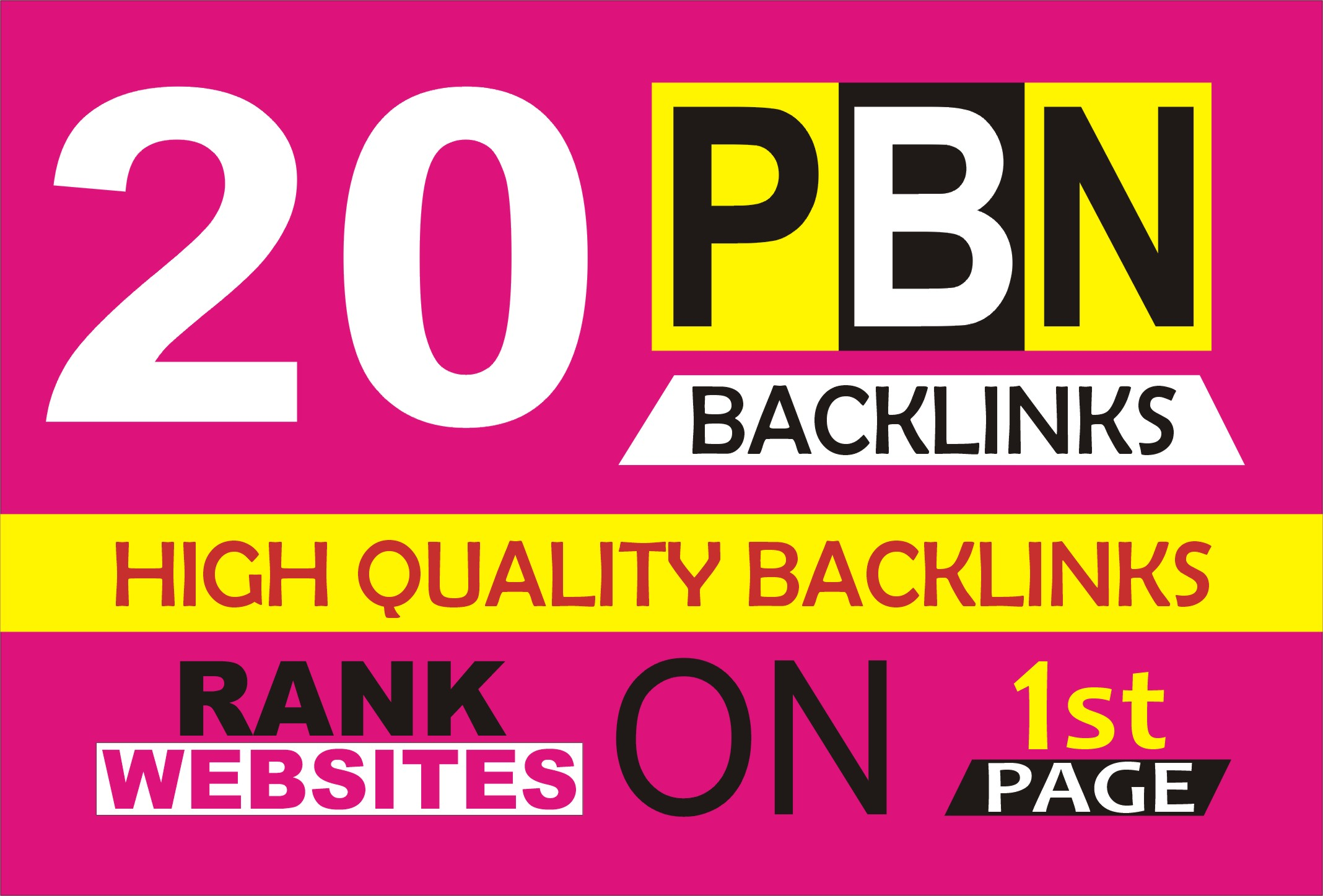 Build 20 PBN DA PA 30+ All Home Page high quality PBN Backlinks