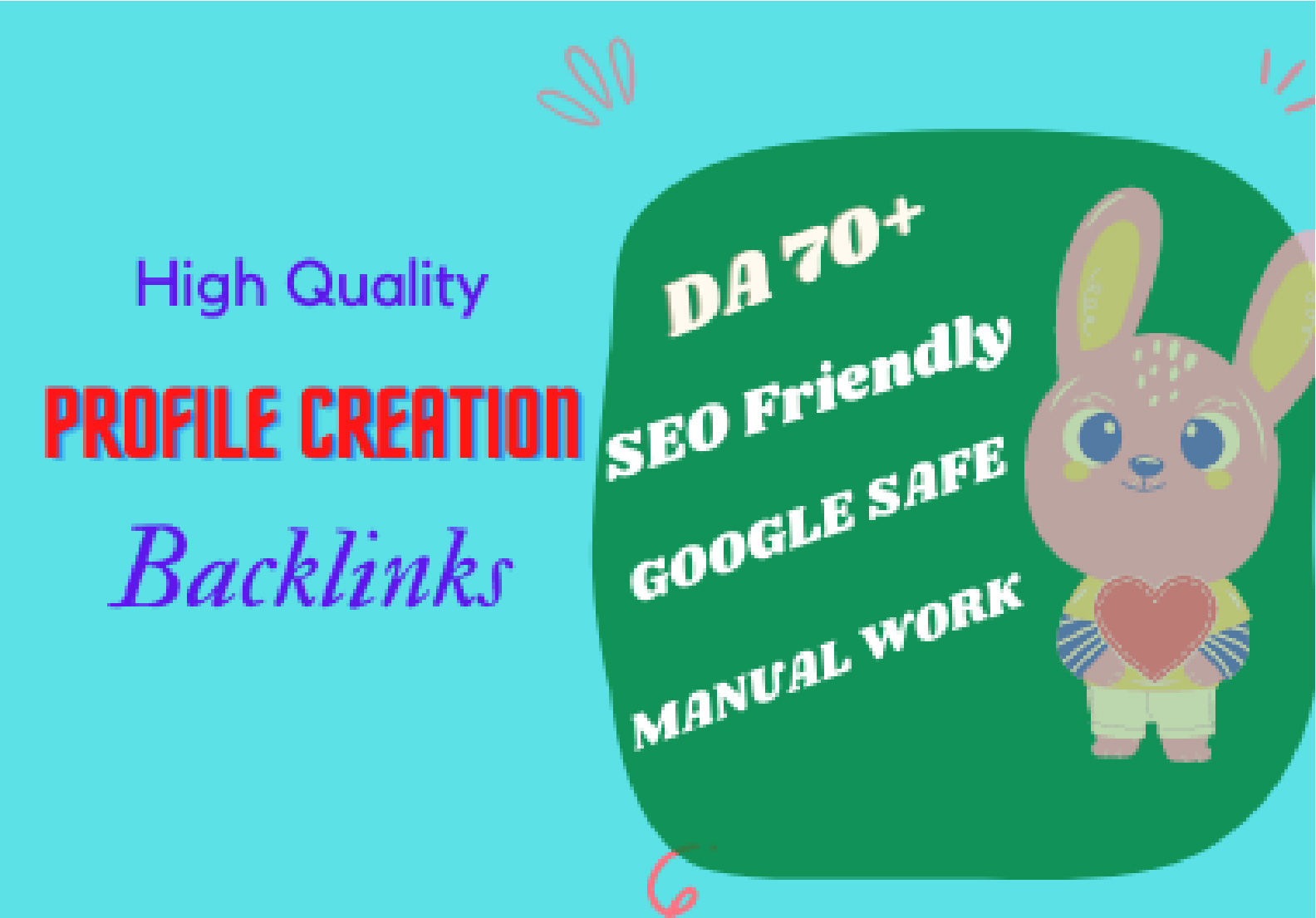 I will provide 70 Profile creation DA 70+ backlinks