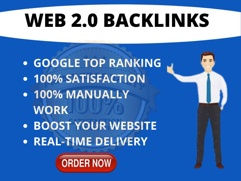 I will Create 20 web 2.0 backlink manually