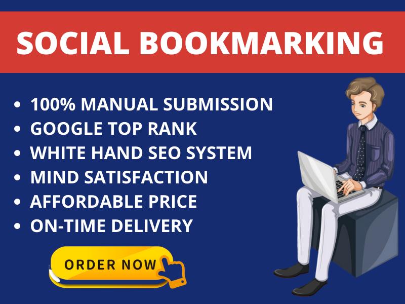 I Will Create 20 Social Bookmarking Backlinks Manually