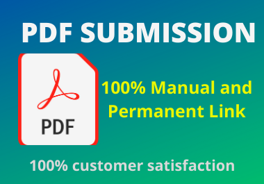 Manual 20 PDF and Docs Submission high authorty permanent backliks