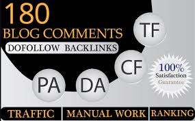 180 blog comments with high quality backlinks