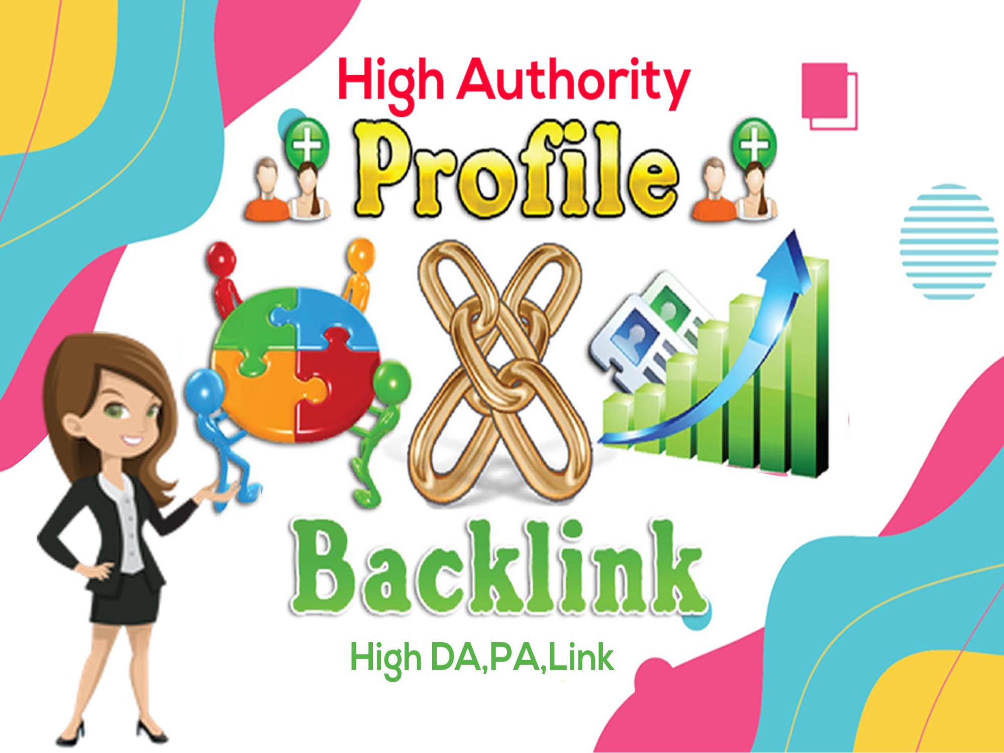 I will create 250 SEO profile backlinks on high authority websites