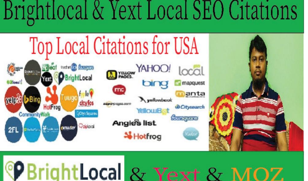 200 USA high quality live local citations for local SEO