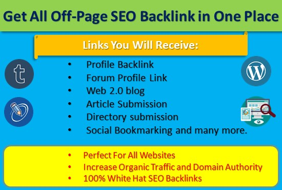 do a complete offpage SEO backlink of your website for google top ranking