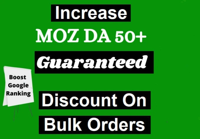 I will increase moz domain authority 50 plus backlink